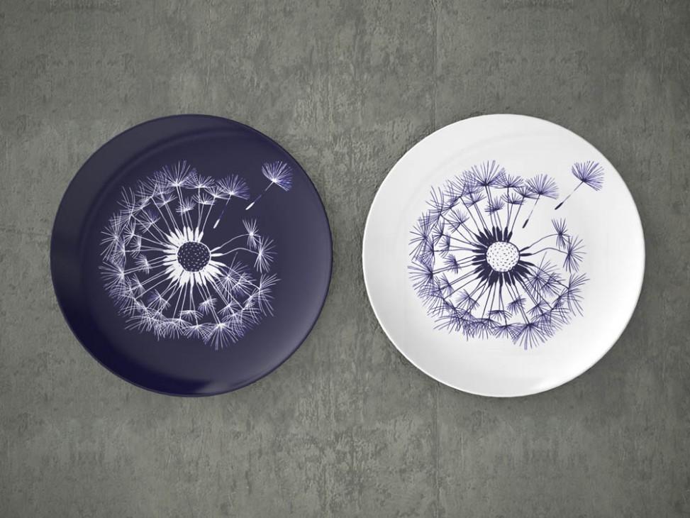 Дизайн керамических тарелок НОВАЯ ГЖЕЛЬ